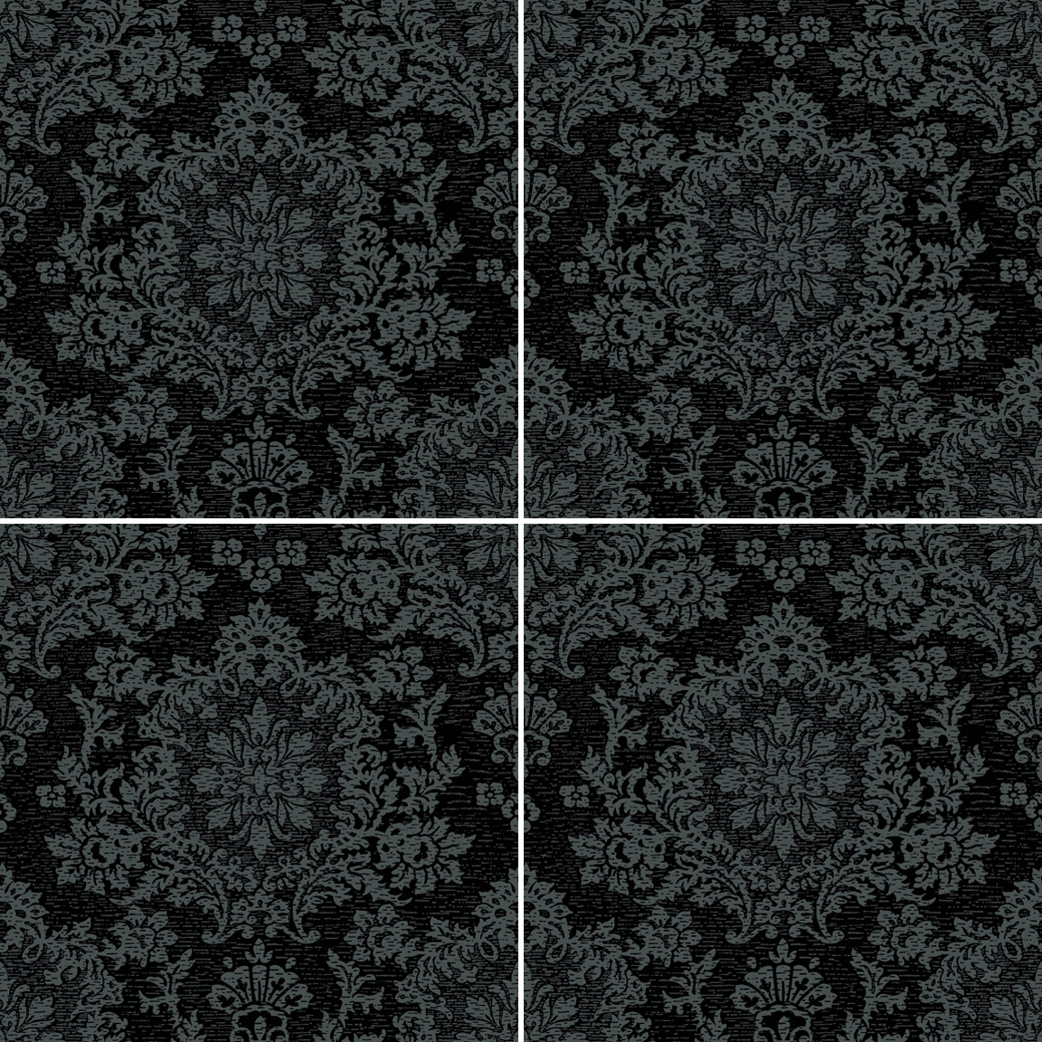Damask gray amp black jacquard tile collection imagine tile dailygadgetfo Gallery